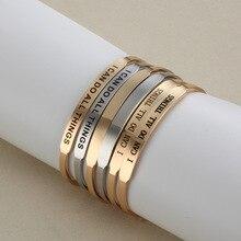 Personalized Name Bangle For Women Custom Jewelry Gold Signature Bracelet Bangle Adjustable Armbanden Voor Vrouwen Christmas цена