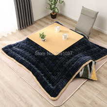 Free shipping Luxury Kotatsu Futon Blanket Patchwork Style Cotton Soft Quilt Japanese Kotatsu Table Cover Comforter 190/240/270 4pcs set japanese style square kotatsu set table futon heater living room furniture low heated wood table 80cm walnut finish