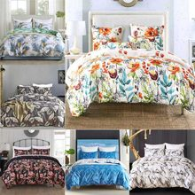Home Textiles Bedding Set Bedclothes Flower Pattern Duvet Cover Pillowcase Nordic Pastoral Style Bed linen Twin Queen King Size(China)