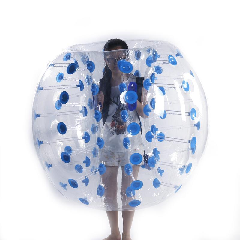 1.5 M de Alta Qualidade PVC Insuflação de Ar Toque Corpo Bola Estresse Bola Crianças Adultos Wearable Transparente Inflável Brinquedo Esportes Ao Ar Livre