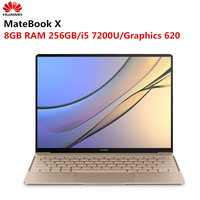 Original HUAWEI MateBook X Laptop 13 inch Windows 10 Home i5 7200U Intel HD Graphics 620 8GB RAM 256GB SSD Fingerprint
