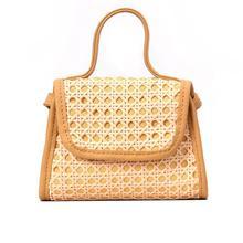 купить Small Square Bag Rattan Straw Hand Woven Shoulder Bag Tote Beach Casual Messenger Bags Handbag Crossbody Women Summer Bags Purse по цене 700.24 рублей