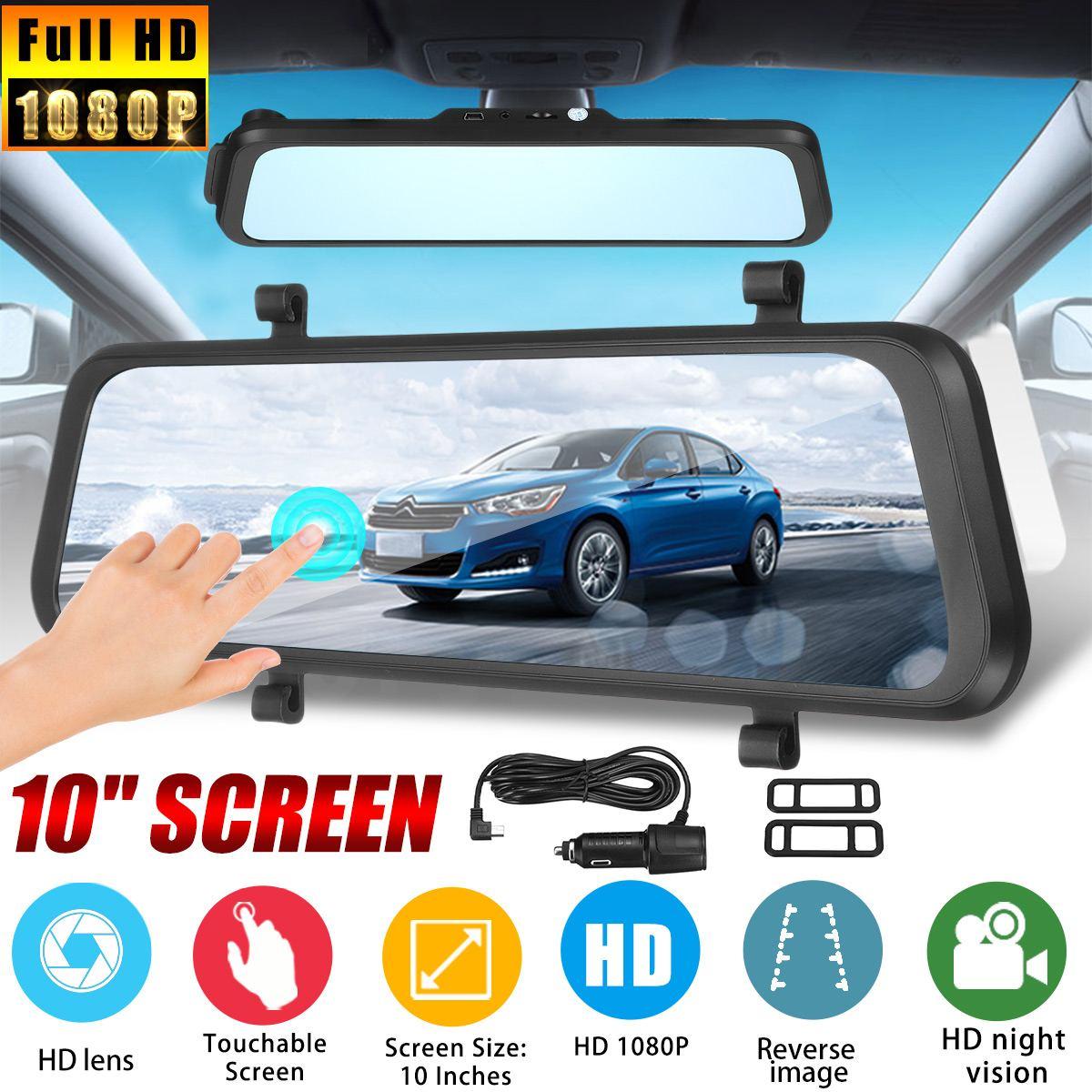 10 Inch 1080P Rear View Mirror Streaming Media Touching Night Vision Dash Cam Car DVR10 Inch 1080P Rear View Mirror Streaming Media Touching Night Vision Dash Cam Car DVR
