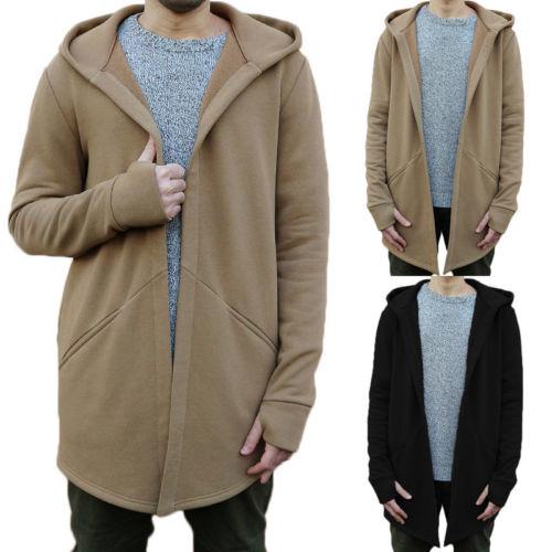 2018 Winter Mode Neue Männer Britischen Hoodie Strickjacke Langarm Casual Slim Fit Polyester Jacke Mantel