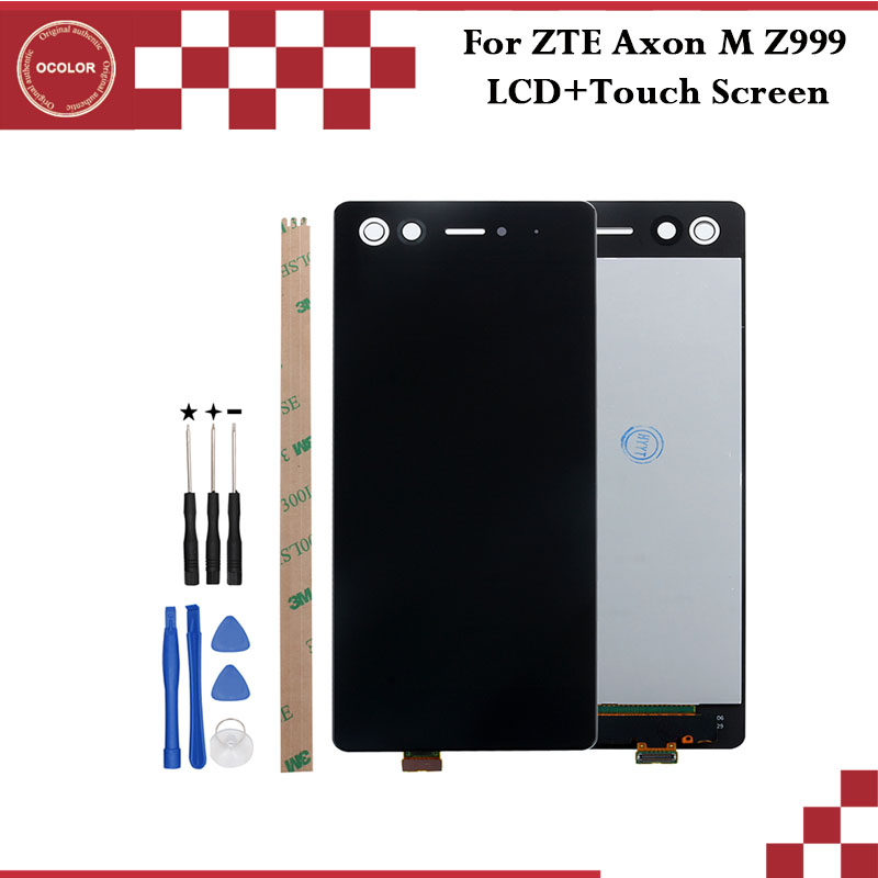 ocolor For ZTE Axon M Z999 LCD Display and Touch Screen 5 2 inch Phone Accessories