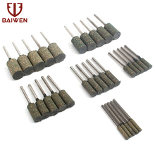 10Pcs 3-12mm Rubber Grinding Head Sesame Cylindrical Shape Polishing Burr Bit Derusting Mounted Point Rotary Abrasive Tools flint aberdeen 3 tapered shank diameter circular cylindrical grinding wheel abrasive polishing chrome gang pa