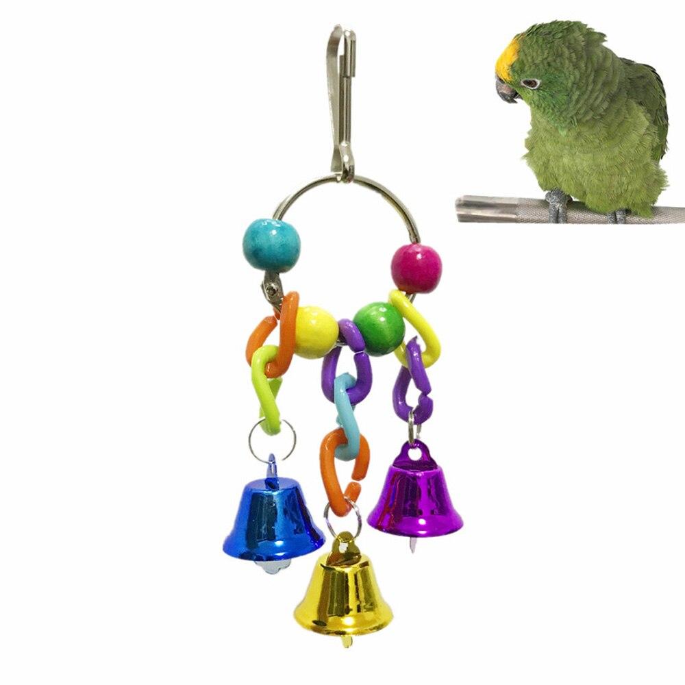 1 Pc Kunststoff Metall Pet Vögel Spielzeug Mit Glocken Spaß Spielzeug Für Nymphensittich Papageien Kleine Vögel Spielzeug Pet Papageien Klettern Käfig Zubehör Herausragende Eigenschaften