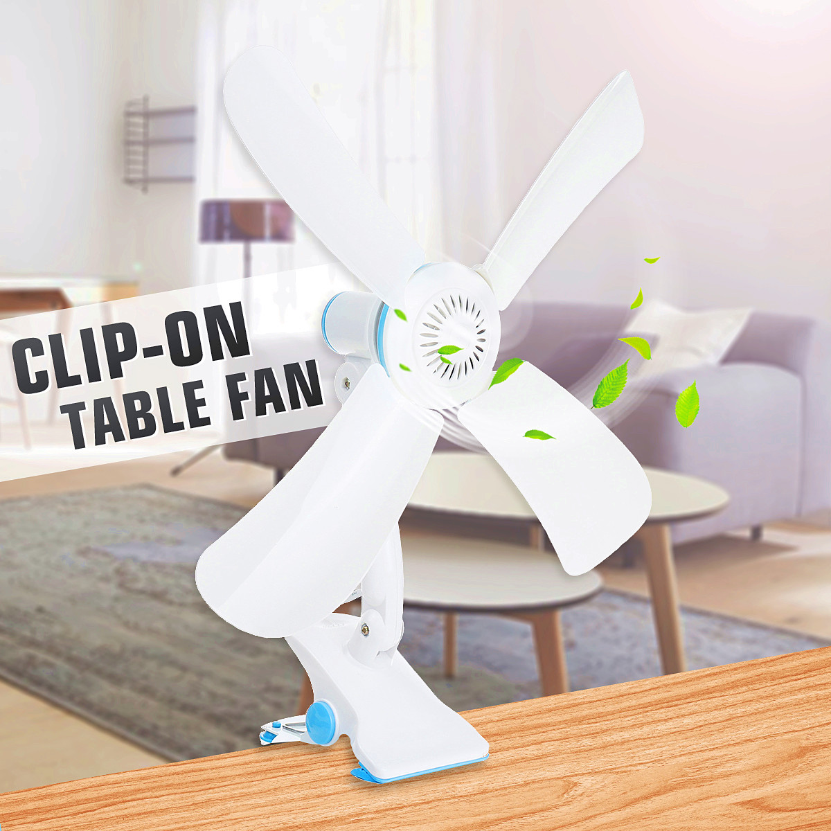 3-IN-1 DC12V Cordless Fan Rechargeable Clip-On Fan Cool Fan Cooling Table Camping Outdoor