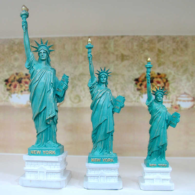 Statue Of Liberty Replica Model Resin Statue New York, USA World Famous Landmark Architecture Home Decoration Accessories