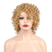 100% Human Hair Women Fashion Short Curly Hair Wig Natural Curl Natural Fluffy And Easy To Care Stylish Breathability Comfort