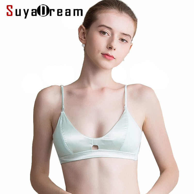 4e2743b06b Detail Feedback Questions about Women Wire Free Bra 100%Natural Silk ...