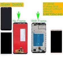 10 pçs/lote para huawei y7 2018 lcd LDN L01 LDN L21 LDN LX3 display lcd montagem da tela de toque com quadro y7 prime 2018 tela lcd