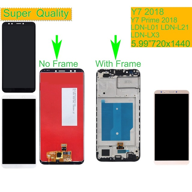 10Pcs/lot For Huawei Y7 2018 LCD LDN L01 LDN L21 LDN LX3 LCD Display Touch Screen Assembly With Frame Y7 Prime 2018 LCD Screen