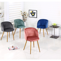 Panana Silky Velvet Accent Armchair Lounge Designer Furniture For Kitchen Dining Room Girls Bedroom Coffee Shop