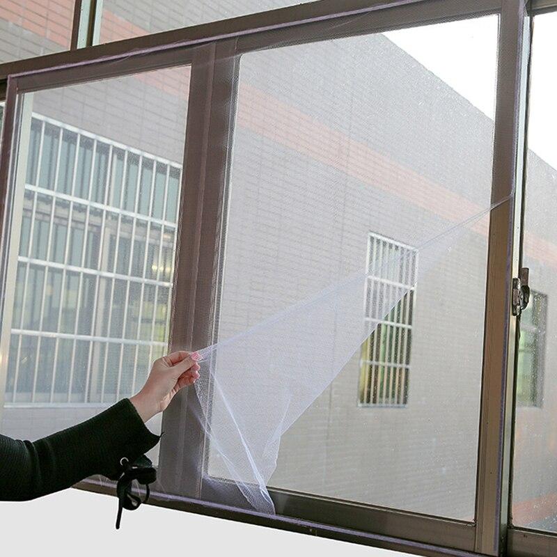1,3 M X 1,5 M Anti-moskito Mesh Net Diy Fly Moskito Fenster Bildschirme Innen Klebrige Selbst-adhesive Band Home Screen Gaze Ein Unbestimmt Neues Erscheinungsbild GewäHrleisten