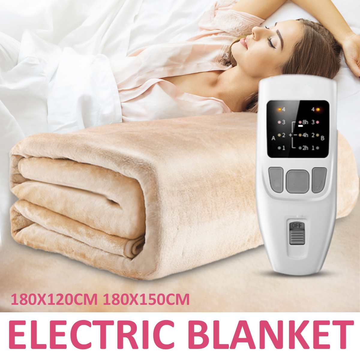 1.8x1.5M Flannel Electric Heating Soft Blanket with Dual Temperature Timing Controller Mat Household Warmer Heater Pad Carpet1.8x1.5M Flannel Electric Heating Soft Blanket with Dual Temperature Timing Controller Mat Household Warmer Heater Pad Carpet