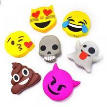 hot deal buy mini battery charger 1500 mah cute cartoon lovely emoji power bank 18650 charge fashion meme creative external battery bank