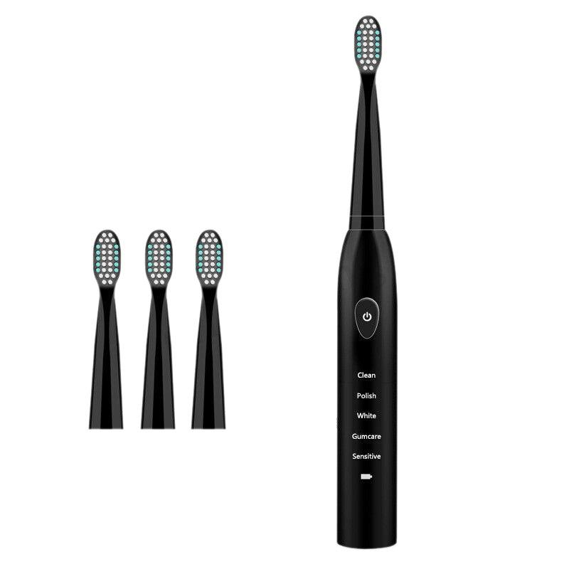 Modo 5 Ipx7 4x Recarregável Sonic escova de Dentes Elétrica Cabeças de Escova À Prova D' Água de Carregamento  Preto (Normal de Carregamento Usb)|Escovas de dente elétricas| |  - title=