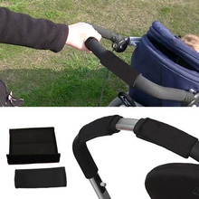 2pcs Baby Stroller Grip Cover Skid Multi Resistance Wheelchairs Poussette Non-slip Mat Hand Protector Tools YJS Dr