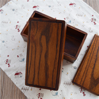 Japanese Style Wooden Bento Dual Layers Wood Lunch Box Sushi Lunch Container