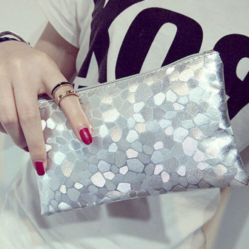 Ladies Designer Sequins Evening Bag Clutch Purse Zipper Handbag Shoulder Bag