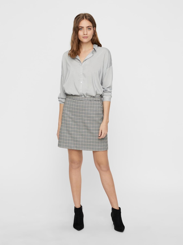 l Moda Fem s Vi75 De Wov Mangas camisas Camiseta con Nieve Blanco Camisas pl25 Vero w8ZzIqdx8