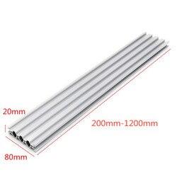Srebro 2080 v slot aluminiowe Profile 20x80mm profil aluminiowy profil wytłaczany do maszyna do grawerowania laserowego cnc nowość w Wsporniki od Majsterkowanie na