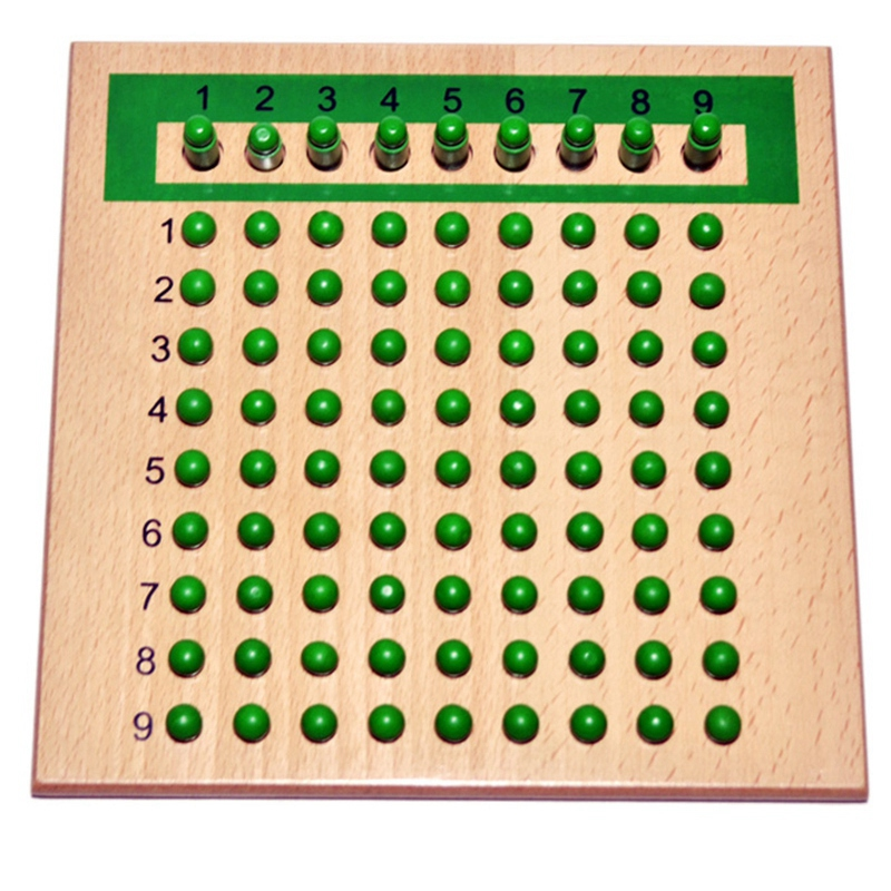 Montessori Educational Wooden Toy Multiplication And Division Bead Board For Early Childhood Preschool Training -Family Versio