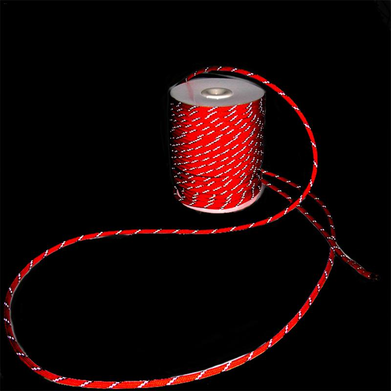 5mm Nylon Reflective Cord Tent Outdoor Rock Climbing Tent Ropes Paracord Camping Kits High Strength Survival String Hiking Tool|Tent Accessories| |  - title=