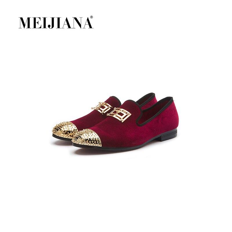 Mocassins À Masculina Couro Primavera Design Feitos E vermelho Preto Italiano Calçados Homens Moda No Mão Sapatos Casuais Outono Meijiana De 76vzqv