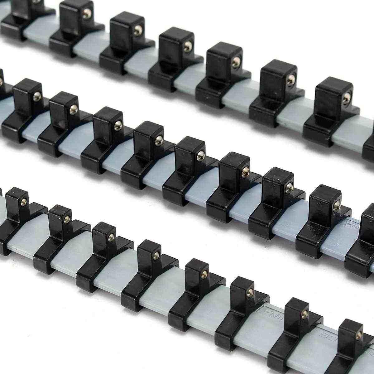 3 Pcs Kunststoff Wand-Montage Buchse Rack Lagerung Divider Fach Halter Regal Organizer 1/4 3/8 1/2 Zoll Für Hause industrie Garage