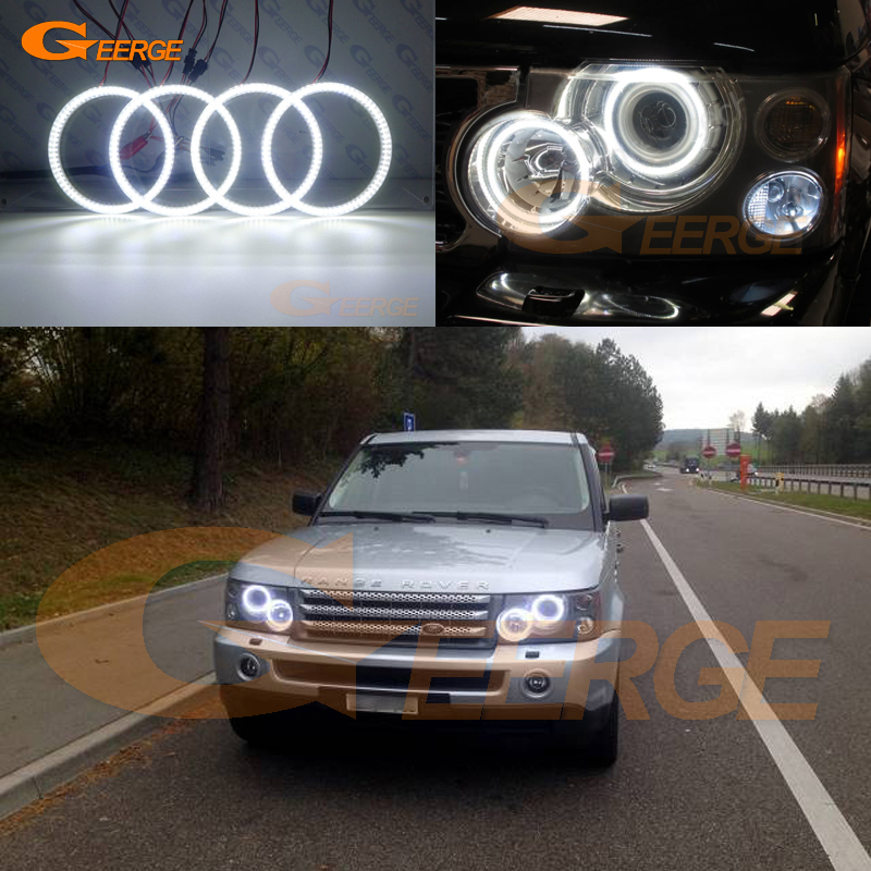 For Land Rover RANGE ROVER VOGUE 2006-2009 Xenon Headlight Excellent Ultra bright illumination smd led Angel Eyes kit DRLFor Land Rover RANGE ROVER VOGUE 2006-2009 Xenon Headlight Excellent Ultra bright illumination smd led Angel Eyes kit DRL