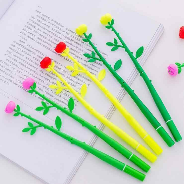 Ellen Brook 1 Piece Plastic Multi Color Creative Cute Cartoon Soft Flower Rose Gel Pens Korea Stationery School Office Supplies