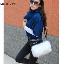 25x17x4cm Mini Size Lady Girl Pretty Cute Faux Fur Handbag Women Messenger Bag L