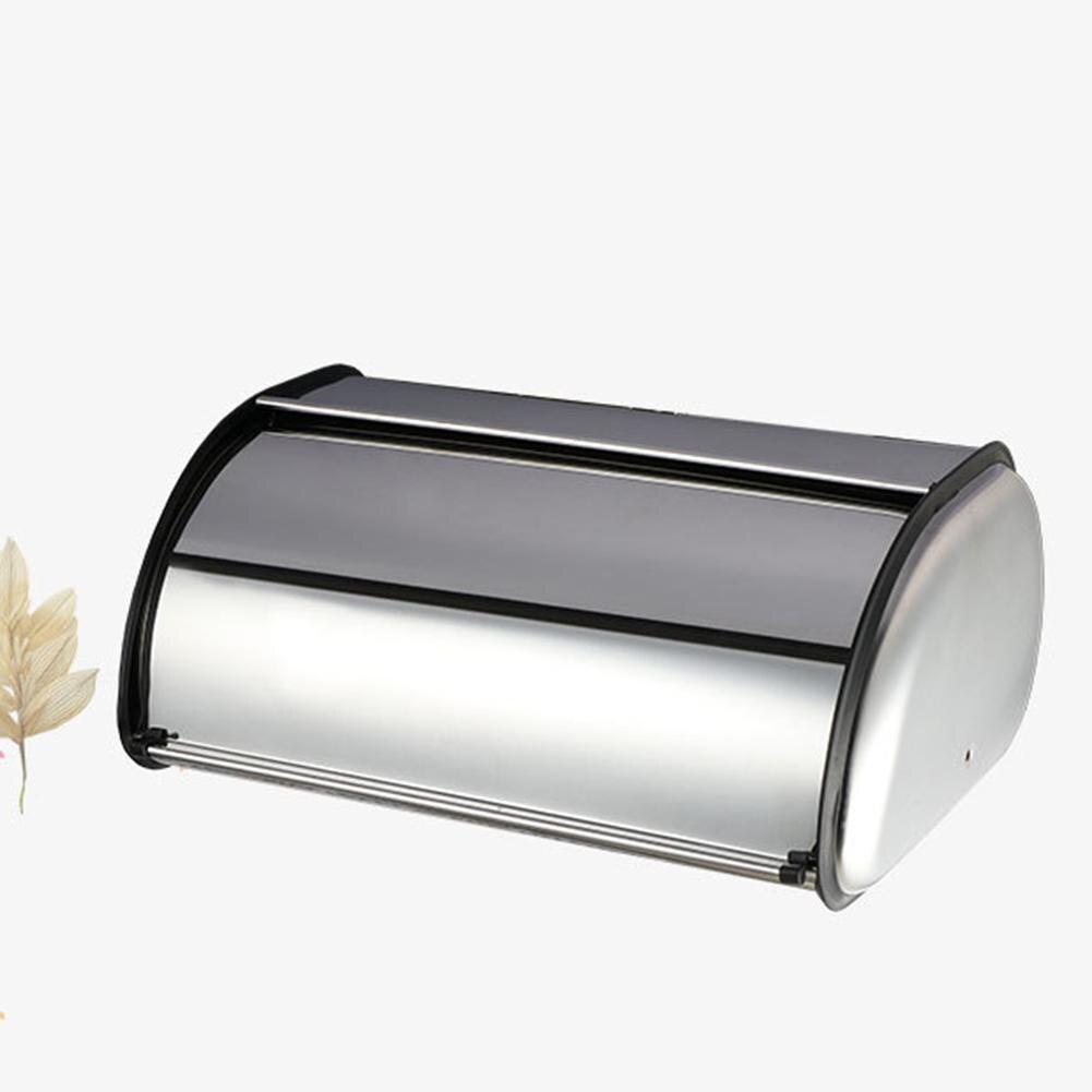 Home Hotel Kitchen Large High Quality Stainless Steel Bread Storage Container Holder Box Bin Bread Bin Case Breadbox Storage