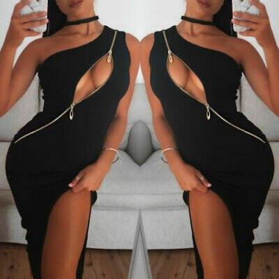 Black Cut-Away Bodycon Dress 4