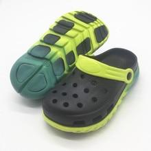 Летние детские сабо для мальчиков, неоновые, зеленые, милые, ультралегкие, детские, для мальчиков, обувь для мальчиков, US11, 12, 13, 1, 2, 3, EU30, 31, 32, 33, 34, 35