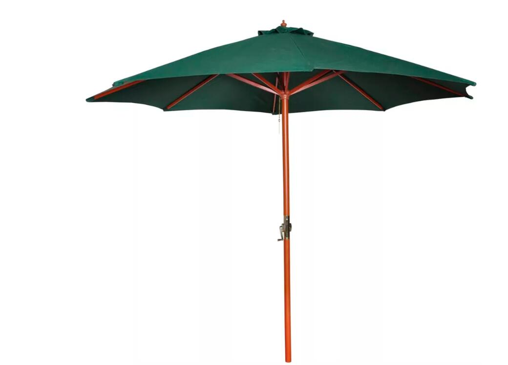 Vidaxl 258 Cm Parasol Garden Umbrella Green Patio Umbrella Bases Foundation Sun Shelter Accessories Outdoor Furniture