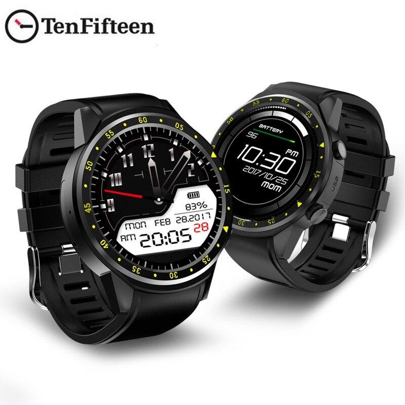 AABB TenFifteen F1 Sports Smart watch GPS Smart Watch Phone 1.3 inch MTK2503 Dual Bluetooth Beidou Camera Heart Rate / Sleep M-in Smart Watches from Consumer Electronics    2
