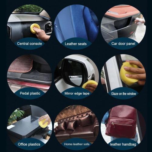 Car Plastic Plating Refurbishing Agent - Leather Care Maintenance Coating Polish 4