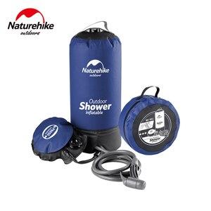 Image 2 - Naturehike 11L Outdoor Baden Wasser Taschen Outdoor Aufblasbare Dusche Druck Duschen Tragbare Camp Dusche Waschen Autos Werkzeuge