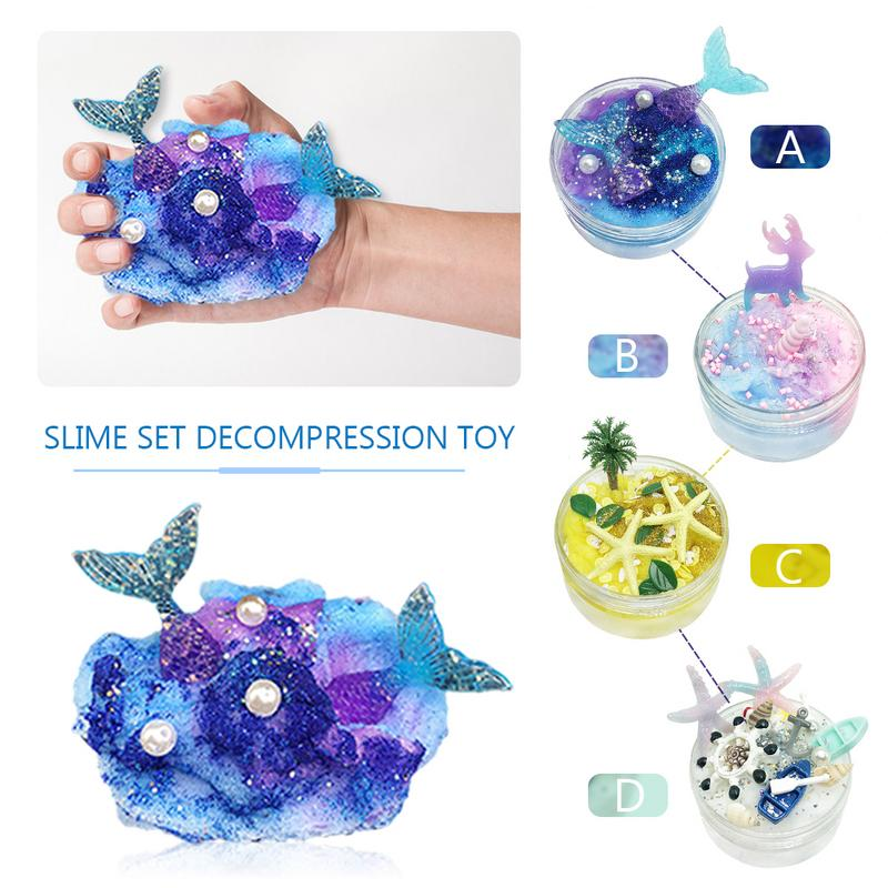 Learning & Education Toys & Hobbies Reasonable 80ml Slime Brushed Mud Mermaid Crystal Mud Starfish Coconut Tree Diy Slime Set Decompression Educational Toys For Children