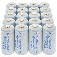 1-20 штук 12800 mAh C Размеры Перезаряжаемые батарейки 1,2 V R14 C ячейки Ni-MH Батарея