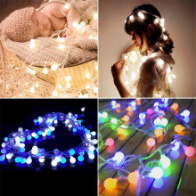 10m LED ball string light waterproof IP46 party decoration lights wedding lights decoration christmas lighting chain цена 2017