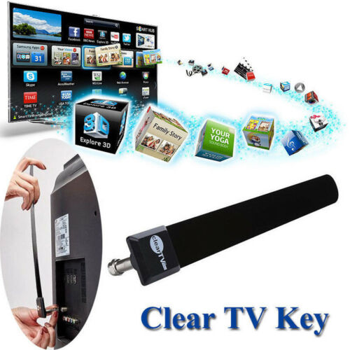 Mini Clear TV Key HDTV 100+ FREE HD TV Digital Indoor Antenna 1080p Ditch Cable TV Antenna