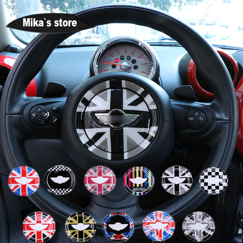 For MINI COOPER R55 R56 R60 Clubman Countryman Steering Wheel Center 3D Dedicated Car Sticker Decal Cover Trim Accessories SkinFor MINI COOPER R55 R56 R60 Clubman Countryman Steering Wheel Center 3D Dedicated Car Sticker Decal Cover Trim Accessories Skin