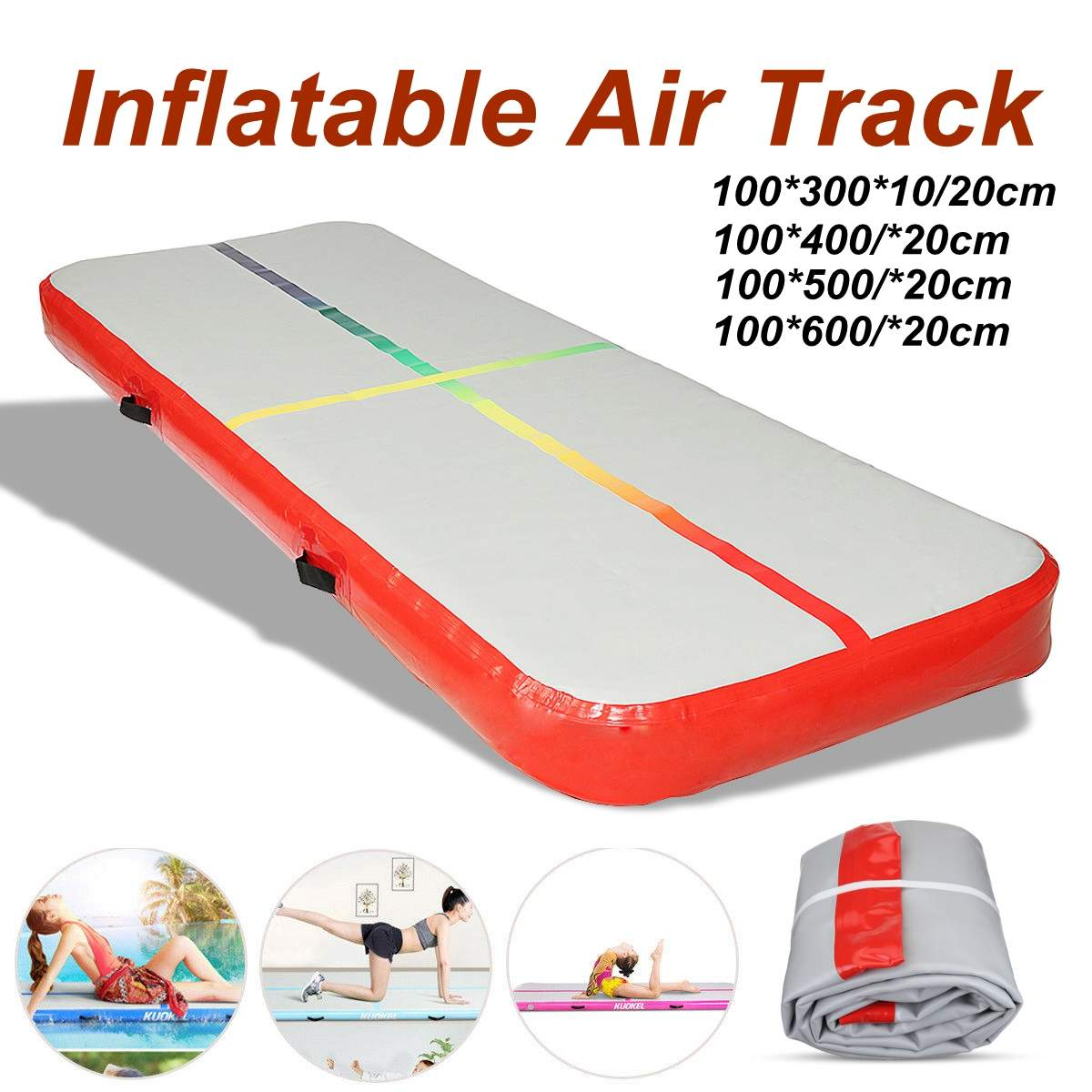 AirTrack Tumbling Air Track Inflatable Gymnastics Floor Trampoline Electric Air Pump for Home Use/Training/Cheerleading/BeachAirTrack Tumbling Air Track Inflatable Gymnastics Floor Trampoline Electric Air Pump for Home Use/Training/Cheerleading/Beach