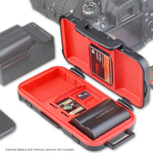 LENSGO D850 Waterproof Memory Card Case Battery Storage Box for 2 Camera Batteries 4 SD Cards 8 TF Cards 2 CF/XQD Cards