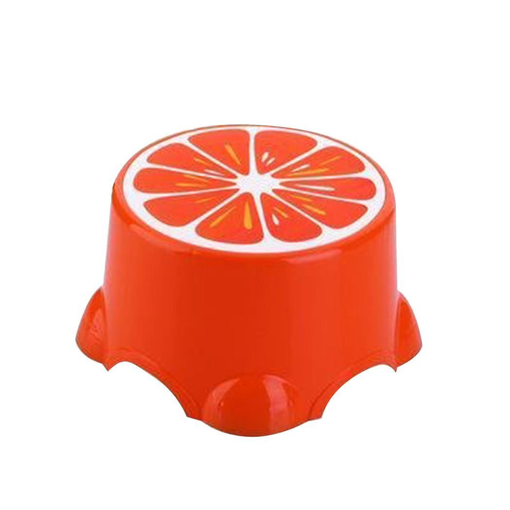 Household Small Size Fruit Pattern Stools Child Lovely Unisex Bath Non-slip Home, Office, Kindergarten StoolHousehold Small Size Fruit Pattern Stools Child Lovely Unisex Bath Non-slip Home, Office, Kindergarten Stool