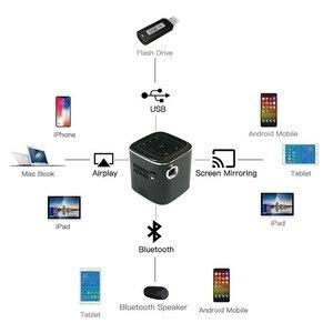 Image 4 - جهاز عرض معالجة رقمية للضوء صغير أندرويد جيب LED عارض فيديو لكامل HD 1080P مع واي فاي بلوتوث بطارية متعاطي المخدرات المسرح المنزلي السينما